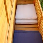 XXL HOLZ Auflagenbox Gartentruhe Kissenbox 140 cm Pic:3