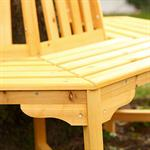 Round Circular Wooden Tree Bench Outdoor Garden Furniture Circle Seat Pic:2
