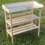 Wooden Planting Table Wooden Table Garden Table Gardener's Table Greenhouse