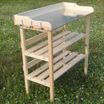 Wooden Planting Table Wooden Table Garden Table Gardener's Table Greenhouse Pic:1