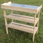 Wooden Planting Table Wooden Table Garden Table Gardener's Table Greenhouse Pic:2