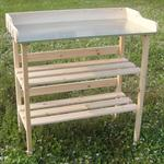 Wooden Planting Table Wooden Table Garden Table Gardener's Table Greenhouse Pic:3