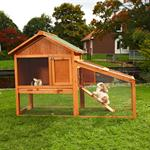 Bunny Rabbit/Guinea Pig 2-Tier Hutch Pet Animal Outdoor Cage Run House