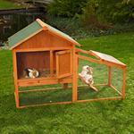 Bunny Rabbit/Guinea Pig 2-Tier Hutch Pet Animal Outdoor Cage Run House Pic:1