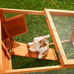Bunny Rabbit/Guinea Pig 2-Tier Hutch Pet Animal Outdoor Cage Run House Pic:2