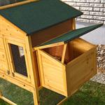 XXL Large Wooden Hen House Chicken Coop Poultry Ark Home Nest Run Coup Pic:1
