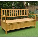 Wooden Outdoor Chest Bench Garden/Patio Furniture Storage Box Seater