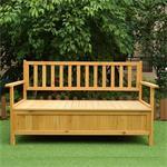 Wooden Outdoor Chest Bench Garden/Patio Furniture Storage Box Seater Pic:1