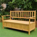 Wooden Outdoor Chest Bench Garden/Patio Furniture Storage Box Seater Pic:2