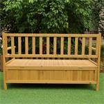 Wooden Outdoor Chest Bench Garden/Patio Furniture Storage Box Seater Pic:3