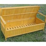 Wooden Outdoor Chest Bench Garden/Patio Furniture Storage Box Seater Pic:5