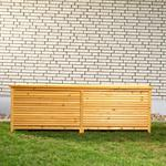 Outdoor Garden Wooden Chest Case Cushion Storage Box Tool Container