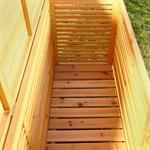 Outdoor Garden Wooden Chest Case Cushion Storage Box Tool Container Pic:2
