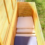 Outdoor Garden Wooden Chest Case Cushion Storage Box Tool Container Pic:3