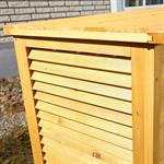Outdoor Garden Wooden Chest Case Cushion Storage Box Tool Container Pic:4