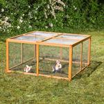 Wooden Outdoor Enclosure Open-Air Enclosure Rabbit Hutch Rabbit Cage Pic:1