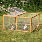 Wooden Outdoor Enclosure Open-Air Enclosure Rabbit Hutch Rabbit Cage Pic:2