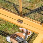 Wooden Outdoor Enclosure Open-Air Enclosure Rabbit Hutch Rabbit Cage Pic:4