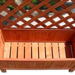 Wooden Flower Planter Pot Box + Stand Trellis Support Tub Pic:2