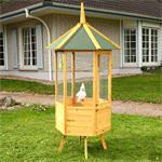 XXL 6-corner Voliere Aviary Birdcage Wooden Bird House Cage
