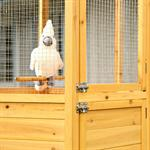XXL 6-corner Voliere Aviary Birdcage Wooden Bird House Cage Pic:1