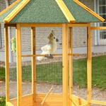 XXL 6-corner Voliere Aviary Birdcage Wooden Bird House Cage Pic:4