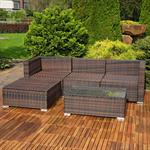 Polyrattan Gartenlounge Gartengarnitur Sofa braun Pic:2