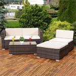 Polyrattan Gartenlounge Gartengarnitur Sofa braun Pic:3