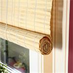 140x160 Bamboo Roman Shade Roller Blind Window Wooden Jalousie Drawstring Pic:1
