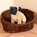 S Puppy Dog/Cat/Pet Animal Basket Bed Sofa Wicker Handmade + Cushion/Pillow Pic:1