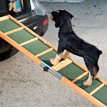 Dog Ramp Dogs Step Pet Stairs Auto Folding Telescopic Animals Assisted Entry Pic:1