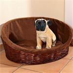 XL Puppy Dog/Cat/Pet Animal Basket Bed Sofa Wicker Handmade + Cushion/Pillow Pic:1