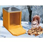Squirrel Pet Animal Feeding Station House Wood Plexiglass Zinc Roof