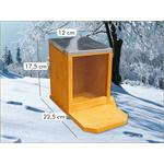 Squirrel Pet Animal Feeding Station House Wood Plexiglass Zinc Roof Pic:2