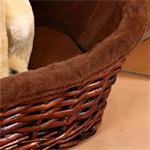 XS Puppy Dog/Cat/Pet Animal Basket Bed Sofa Wicker Handmade + Cushion/Pillow Pic:2