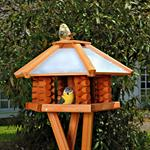 Aviary Volery Bird House Nesting Box Wood Bird-seed Dispenser