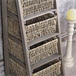 regal mit 5 k rben highboard treppe braun. Black Bedroom Furniture Sets. Home Design Ideas