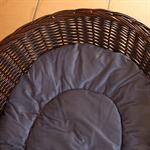 XXL Dog Bed Sofa Couch Pet Animal Willow Basket incl. Cushion 100cm Pic:2