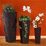 XXL 3er Blumentopfset Wasserhyazinte dunkelbraun