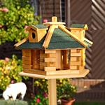 Aviary Volery Bird House Aviaries Nesting Box Wood Bird-seed Dispenser Feeder