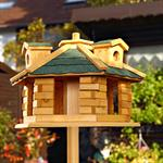 Aviary Volery Bird House Aviaries Nesting Box Wood Bird-seed Dispenser Feeder Pic:1
