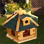 Aviary Volery Bird House Aviaries Nesting Box Wood Bird-seed Dispenser Feeder Pic:2