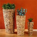 XXL 3 Flower Pot Set Water Hyacinth Plant Planter Vase Natural Handmade
