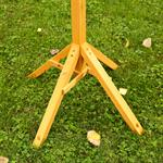 1,05 m Bird House Stand for your Aviary Post Volery Birds Feeder Wood Seed Pic:1
