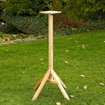 1,05 m Bird House Stand for your Aviary Post Volery Birds Feeder Wood Despenser