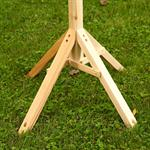 1,05 m Bird House Stand for your Aviary Post Volery Birds Feeder Wood Despenser Pic:1