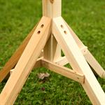 1,05 m Bird House Stand for your Aviary Post Volery Birds Feeder Wood Despenser Pic:2