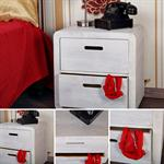 Design 3 Piece Drawer Night Stand Bedside Table Cabinet Wood White