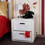 Design 3 Piece Drawer Night Stand Bedside Table Cabinet Wood White Pic:1