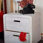 Design 3 Piece Drawer Night Stand Bedside Table Cabinet Wood White Pic:2